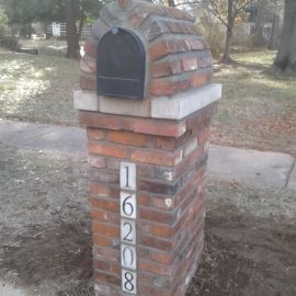 masonry mail box